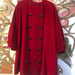 gianfranco cape coat vintage oversized m-xl red